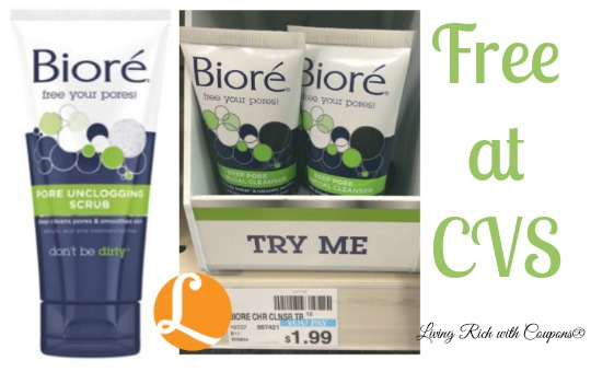 Biore Coupon - FREE Biore Deep Pore Cleanser at CVS! -