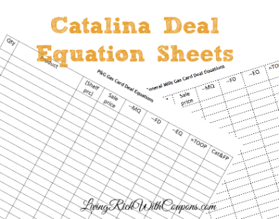 catalina deal equation sheets