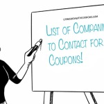 companies to contact for coupons