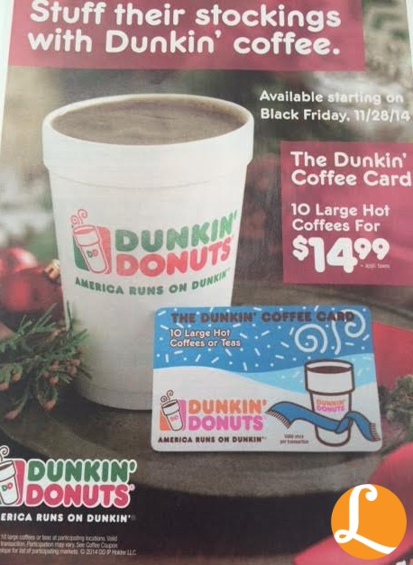 dunkin donuts holiday coffee book