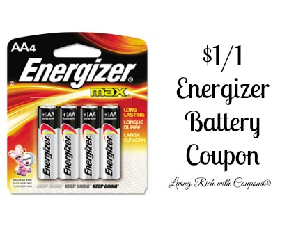 Energizer Coupon 1 00 Off Energizer Brand Batteries