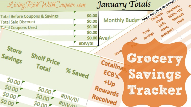 grocery savings tracker