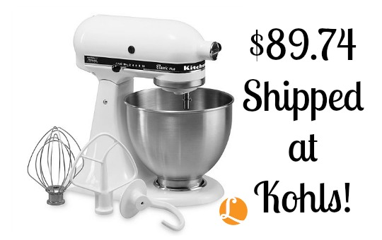 Kohls Coupon Code - KitchenAid Stand Mixer just $89.74 ...