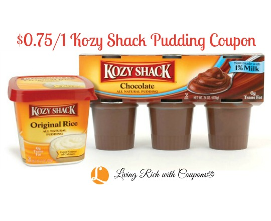 Kozy shack pudding coupons 2019