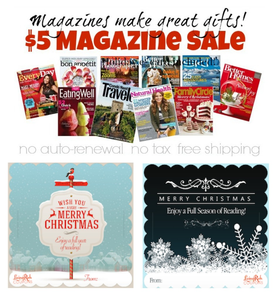 Magazines Make Great Gifts 5 Magazine Subscriptions 100 Titles Living
