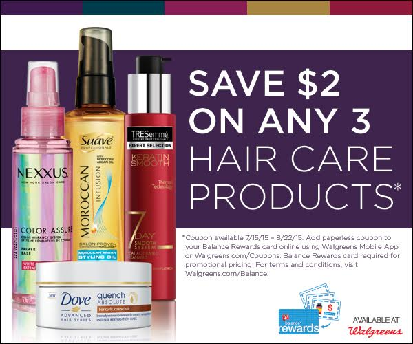 New 2 3 Nexxus Suave Dove Or Tresemme Hair Products Walgreens Digital Coupon Mystylefix Living Rich With Coupons