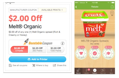 Melt organic butter coupon