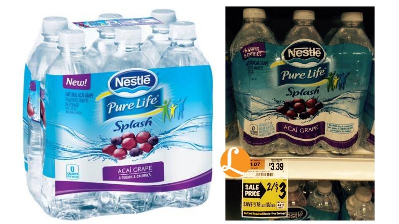 Nestle Pure Life Splash Water Coupon - $0.40 at ...  Nestle Pure Lif...