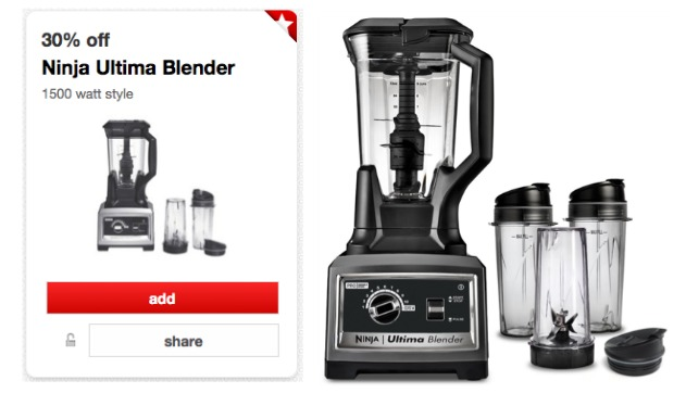 Target Cartwheel Offer 30 Off Sunbeam Mixer Ninja Ultima Blender Living Rich With Coupons