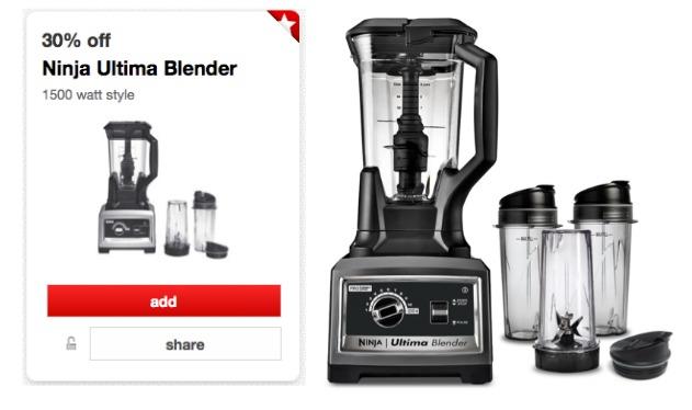 Target Cartwheel Offer - 30% off Sunbeam Mixer & Ninja Ultima Blender ...