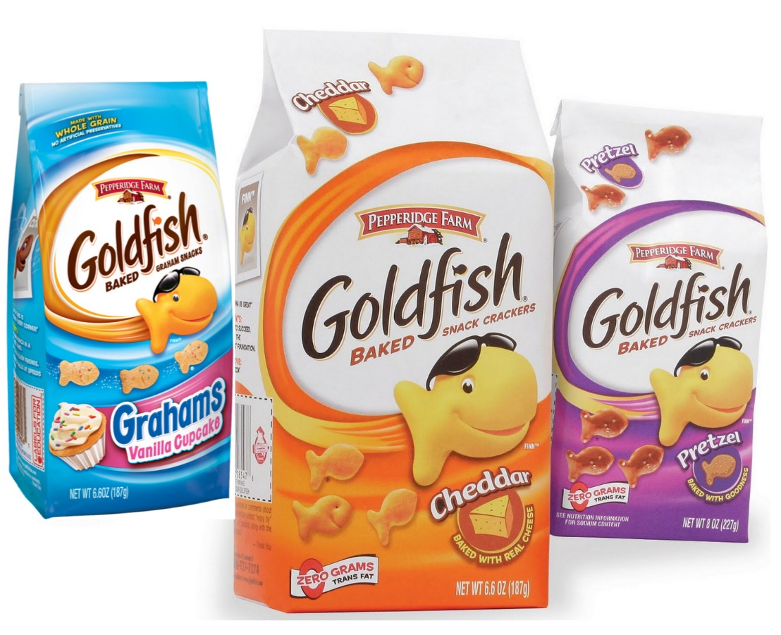 image about Goldfish Printable Coupons known as Pepperidge Farm Goldfish Coupon - $0.92 at Weis