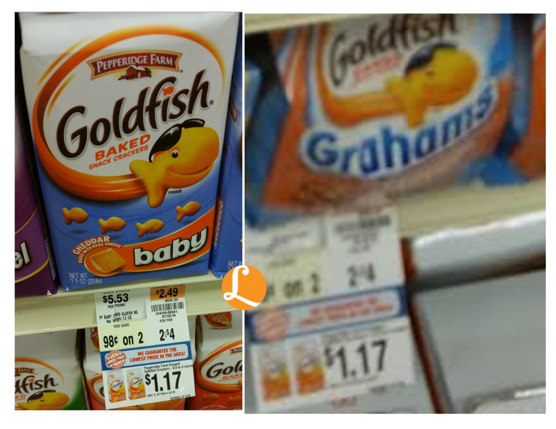 picture about Goldfish Printable Coupons identified as Pepperidge Farm Goldfish Coupon - $0.92 at Weis