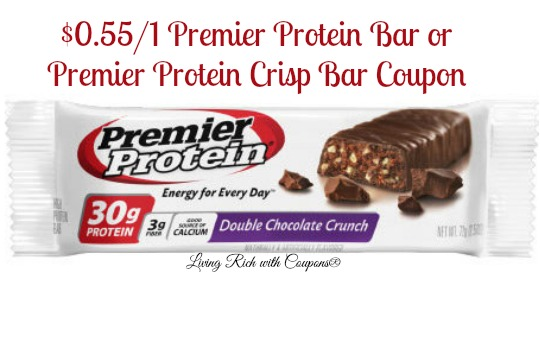Premier protein bars coupons