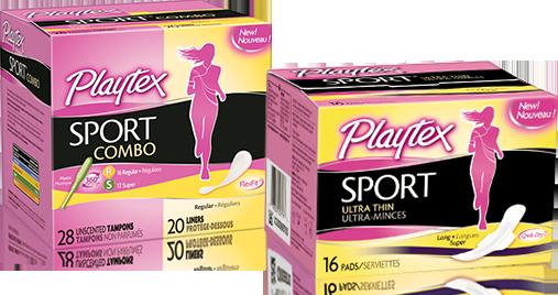 free playtex sport pad  u0026 tampon