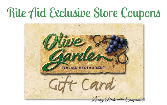 Rite Aid Coupons Olive Garden Gift Card And More Living Rich With Coupons