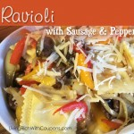 ravioli with sausage and peppers