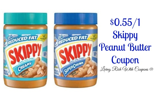 Skippy peanut butter coupons printable