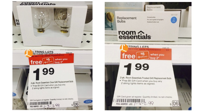 Money Maker On Room Essential Light Bulb Packs At Target No Coupons Needed  Living Rich WithBulb String Lights Target   lesternsumitra com. Globe String Lights Target Canada. Home Design Ideas