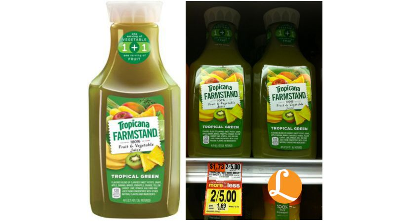 Tropicana Farmstand Tropical Green Juice Only $1 at Acme!