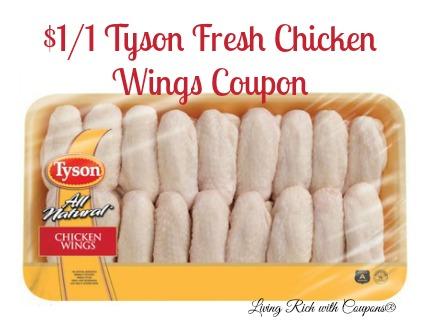Tyson Chicken Coupon 1 00 Off Tyson Fresh Chicken Wings