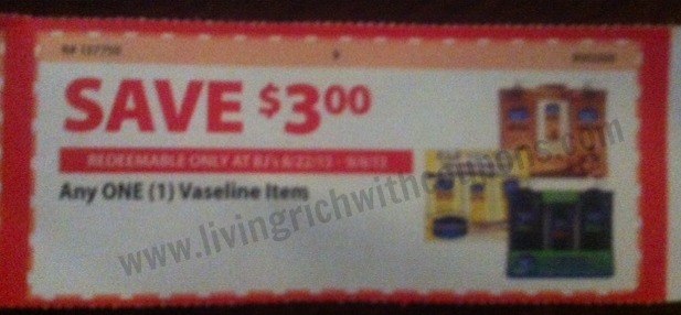 vaseline coupon