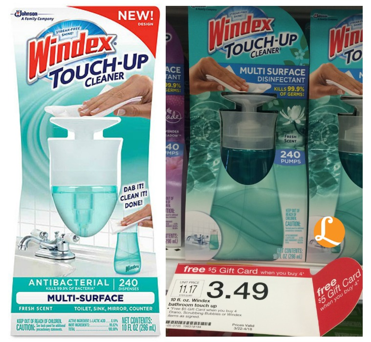 How does FREE Windex Touch-Up Cleaner sound? Here's how to snag this deal: Windex Touch-Up Cleaner- $ each-$1/1 Household Cleaning Item Target Mobile Coupon (text SPRING to ) Plus, use the $1/1 Windex Touch-Up Cleaner coupon Submit for $ Checkout 51 cashback offer for Windex Touch-Up Cleaner = FREE!